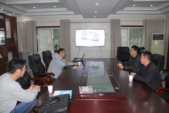 黄石盛锦商贸董事长赵总来信阳万博app客户端洽谈合作