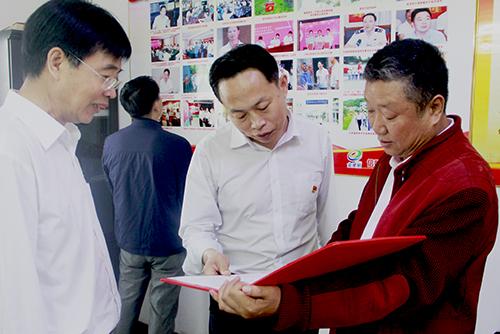 信阳市委办公室领导考察