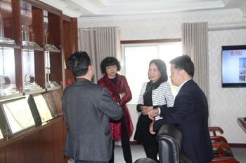 【金灵鉐】—信阳平桥区财政局领导莅临信阳灵石调研指导工作