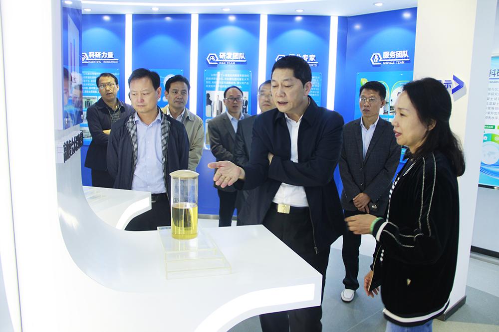 信阳市副市长李正军、平桥区副区长耿传清莅临灵石科技进行调研