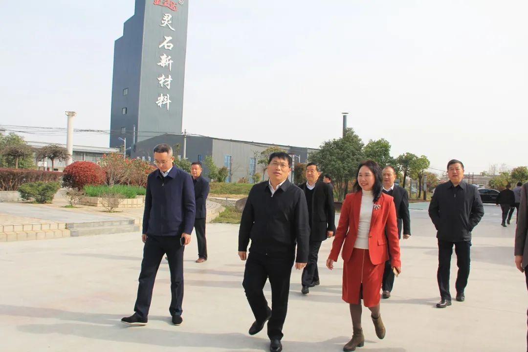 信阳市委副书记、市委统战部部长王新会一行走访信阳市灵石科技有限公司